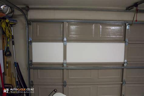 installing garage door insulation expol garage door insulation kit install product