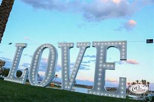 white 5 foot love letters With 5 ft marquee letters