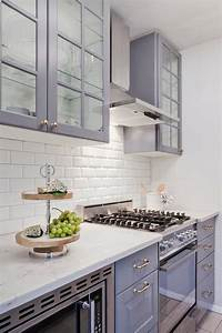 gray ikea kitchen cabinets with white beveled subway tile With kitchen colors with white cabinets with bed bath and beyond wall art