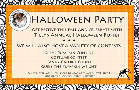 halloween office party invitation festival collections