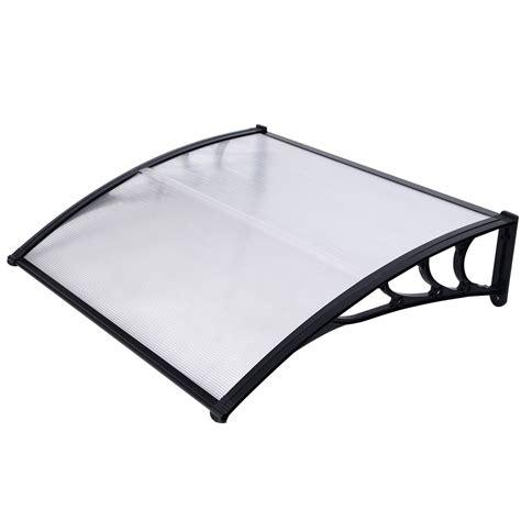 auvent marquise brico depot marquise de porte transparent 120 x 100 cm dealabs