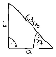 trigonometrie rechtwinkliges dreieck seitenlaengen  und