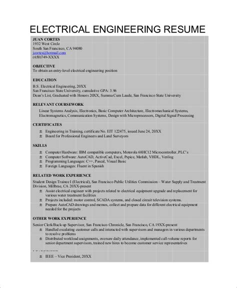 Build Engineer Resume by Electrical Design Resume Of Electrical Design Engineer