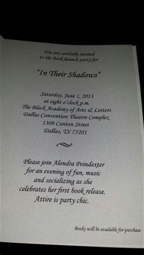 invitation wording  book launch  book release party
