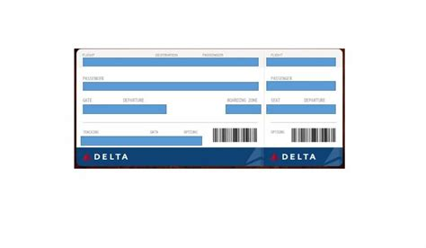 Boarding Pass Template 16 Real Boarding Pass Templates 100 Free