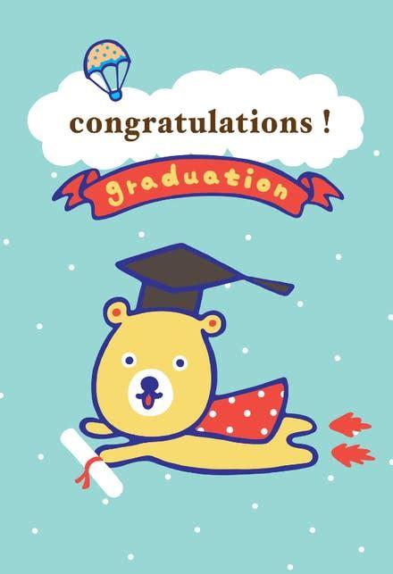 graduation graduation card   island