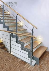 Treppe Handlauf Holz : treppe aus stahl und holz haus ~ Watch28wear.com Haus und Dekorationen