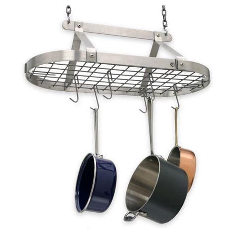 kitchen ceiling pot hangers enclume decor stainless steel hanging pot rack