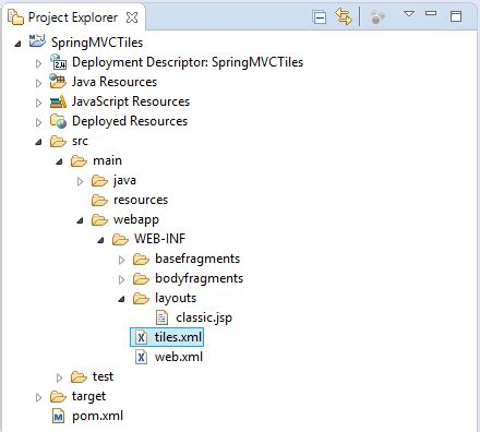 put templates java xml using template in spring mvc with apache tiles
