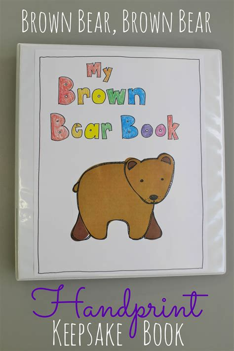 brown brown handprint project happy home 623 | brown bear handprint keepsake book this is awesome what a fun and adorable way to teach colors