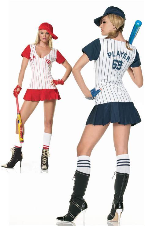 FANCY DRESS HOMERUN HITTER BASEBALL COSTUME / BASEBALL PLAYER OUTFIT / BASE BALL UNIFORM - SEXY ...