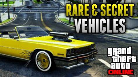12 Rare & Secret Vehicles On Gta 5
