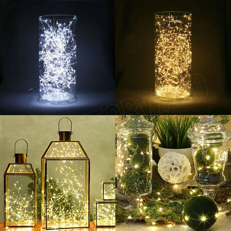 battery operated outdoor fairy lights led strip 2m 20led button cell battery powered fairy light