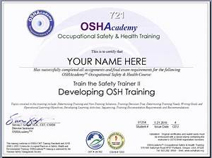 education certificate occupational education certificate With health and safety certificate template