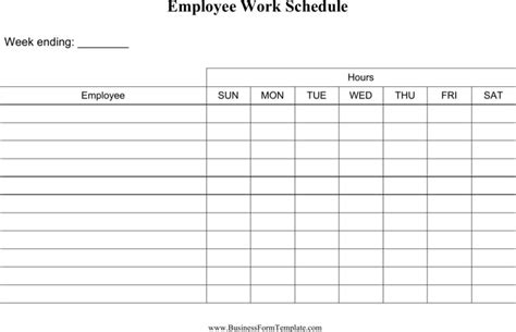 Employee Daily Work Schedule Template by Daily Work Schedule Template Free Premium