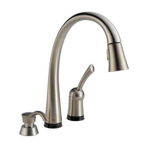 kitchen faucets touch technology delta 980t sssd dst pilar single handle pull kitchen