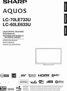 Sharp Lc 60le633u User Manual Lcd Television Manuals And