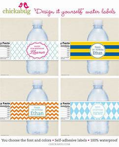 custom water bottle labels to match any party theme With customized water bottle labels for free