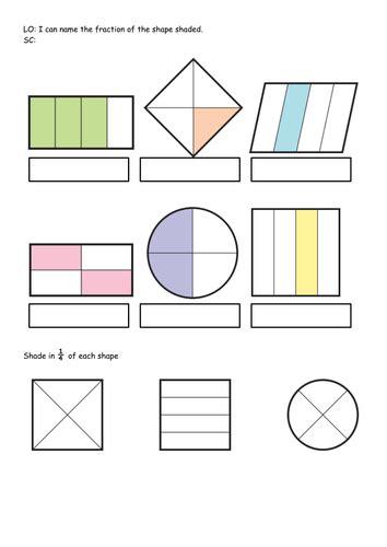 ks1 bundle year 1 2 fraction of shape shape hunt