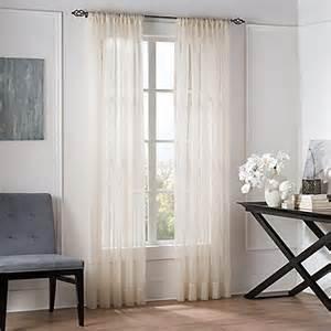 valeron natural sheer window curtain panel bed bath beyond