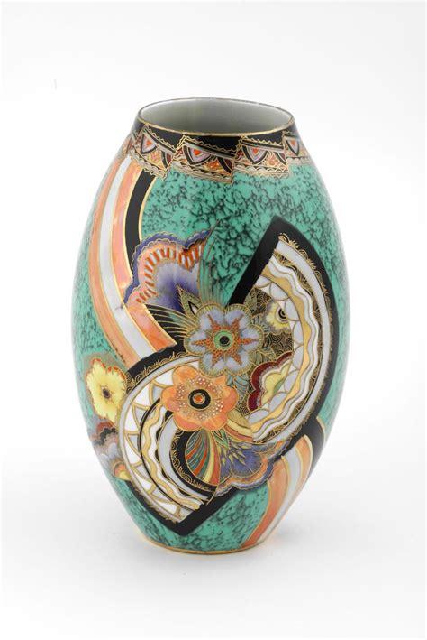 carlton ware rainbow fan vase  design gallery