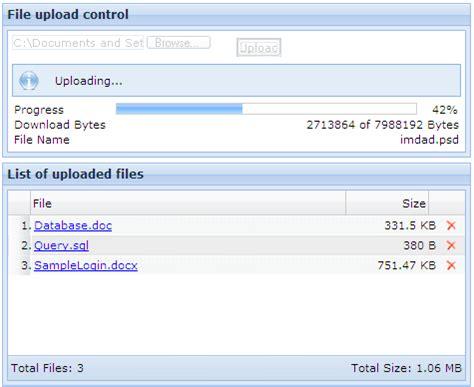 Aspnet File Upload With Progress Bar  Codeproject