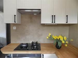 Crédence Béton Ciré : credence cuisine en beton cire ~ Mglfilm.com Idées de Décoration