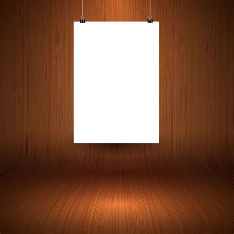 wooden display background  blank hanging picture
