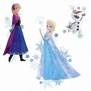 Roommates Frozen Anna, Elsa, and Olaf Peel and Stick Giant