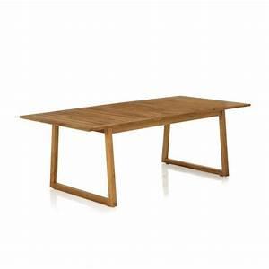 Table De Jardin Extensible Pas Cher : mia table de jardin rectangulaire en teck allonge ~ Dailycaller-alerts.com Idées de Décoration