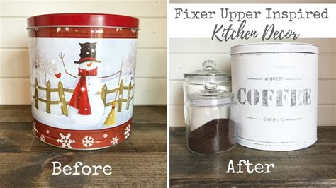 coffee kitchen accessories fixer inspired kitchen decor vintage coffee tin 2295