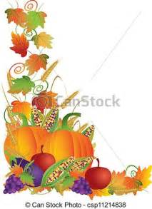 Fall Harvest Border Clip Art