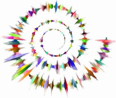 Spiral Sound Waves Clipart Vector Prismatic Sin