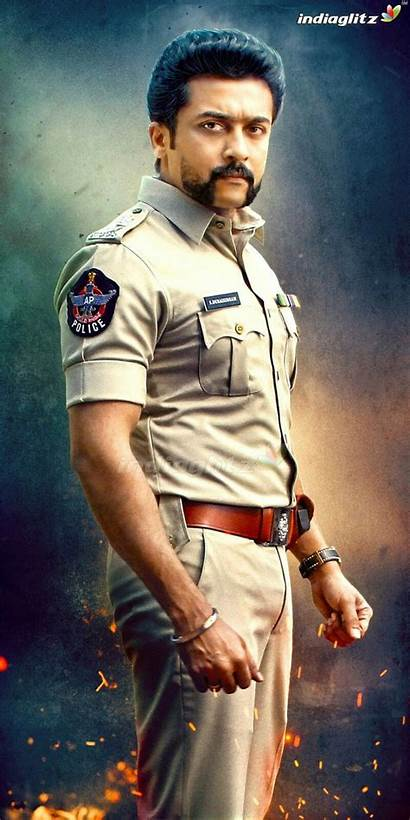 Police Surya Wallpapers Indian Uniform Actor Famous