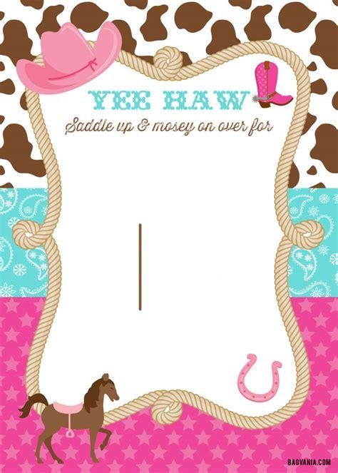 cowgirl birthday invitations bagvania