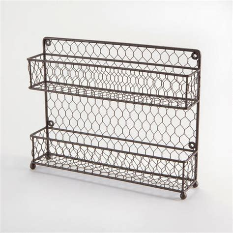 Cabinet Door Spice Rack Wire by Two Tier Wire Spice Rack Traditional Spice Jars And