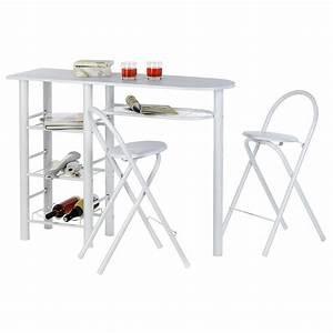 Bistrotisch Mit 2 Stühlen : bartisch style mit 2 st hlen in wei real ~ Michelbontemps.com Haus und Dekorationen