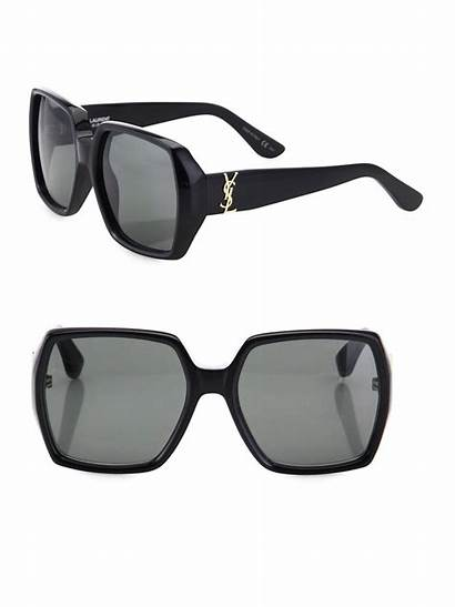 Sunglasses Square Oversized Laurent Saint 58mm Womens