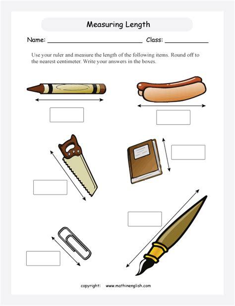 measuring length worksheet worksheets for all