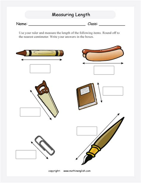 Measuring Length Worksheet Worksheets For All  Download And Share Worksheets  Free On