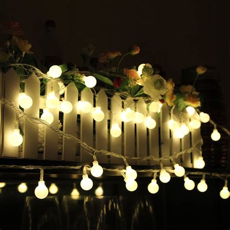 warm white battery operated christmas lights