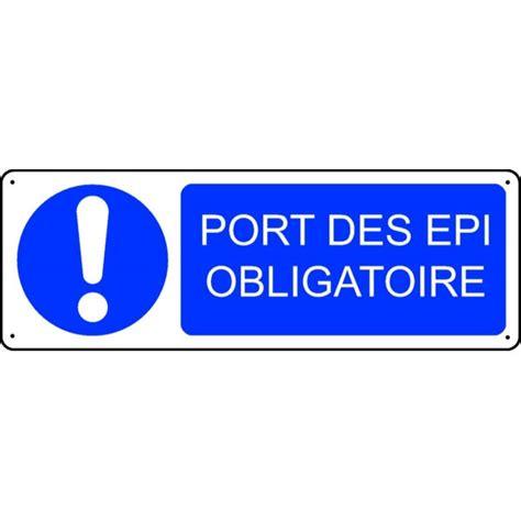 plaque autocollante cuisine panneau port des epi obligatoire stocksignes