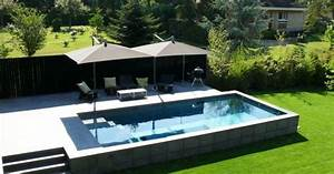 la legislation sur les piscines semi enterrees With amenagement autour d une piscine 2 installation dune douche dexterieur