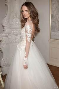 berta bridal fall 2015 wedding dresses wedding inspirasi With long sleeve illusion wedding dress