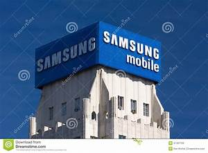 Amsung Mobile Aadvertisement And Logo Editorial Stock ...