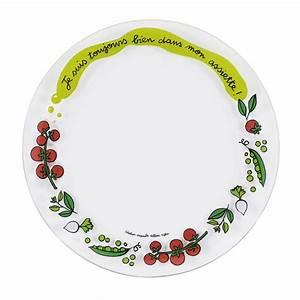 Assiette Plate Originale : assiette plate toujours set de 4 derri re la porte dlp accessoire cuisine et rangement ~ Teatrodelosmanantiales.com Idées de Décoration