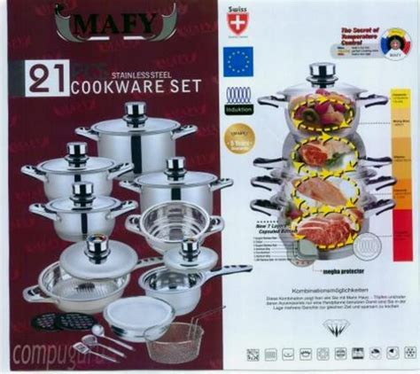 piece pancookware set  mafy swiss quality