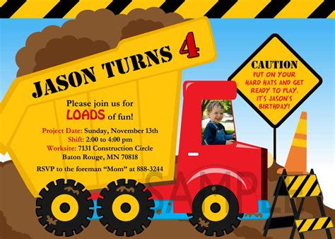 Free Printable Dump Truck Birthday Party Invitations Business Proposal Xls Graham Balls To Investors Plan Sample Questions Gantt Chart Cheap Cards Zazzle Free Shipping Letter