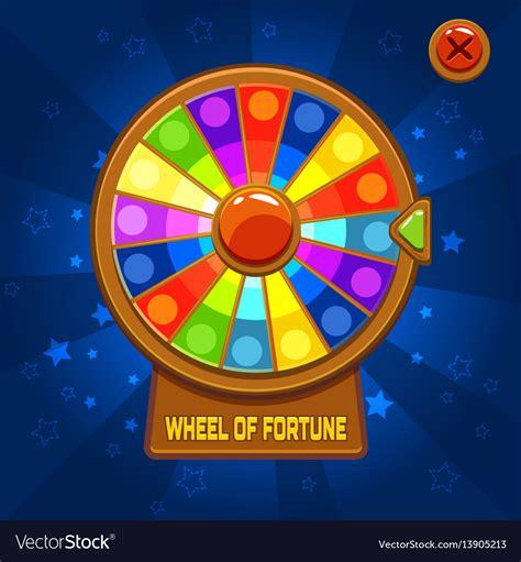 wheel fortune game ui vector royalty