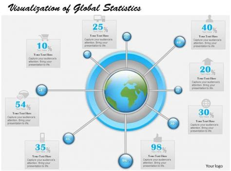 business  diagram visualization  global statistics powerpoint template powerpoint